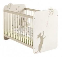 Otroška soba KITTY - postelja 120x60cm bela 349984
