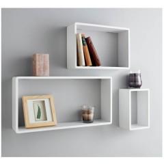 Shelf COLIN bela MDF (3x)