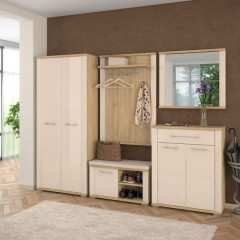 Hallway DANA - oak + beige