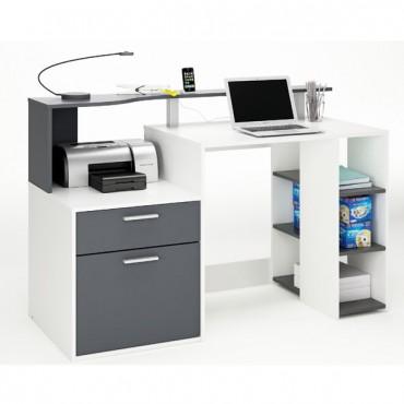 számítógépasztal ORACLE fehér+szürke