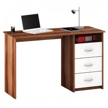 íróasztal ARISTOTE mogyoró + fehér