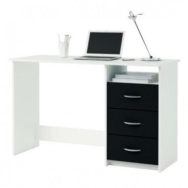 íróasztal ARISTOTE fehér + fekete