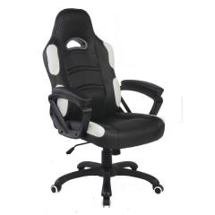 Office chair MAVIS II black + white PU