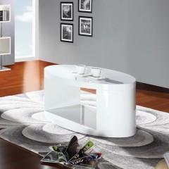 Klubska miza TINKARA bela visoki sijaj