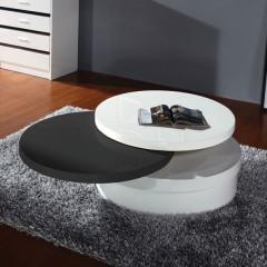 Klubska miza YIN YAN črna+bela