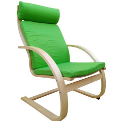 Relax chair SLIK beige+natural