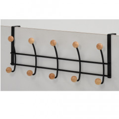 Wall coat hanger MILKA black