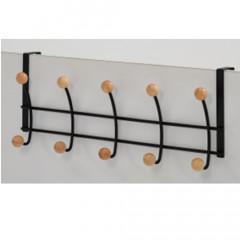 Wall coat hanger MILKA black