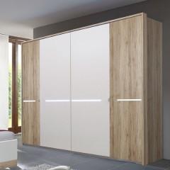 Wardrobe ELO 156 white+san remo oak