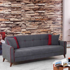 Sofa AVOLA grey+red