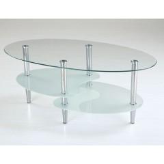 Klubska miza TT-519 - prozorno+mat