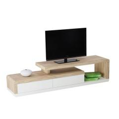 RTV mizica MERCEDES sonoma/bel + Led 170x40x40 cm