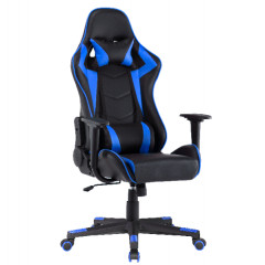 Office chair STRIPE black + blue