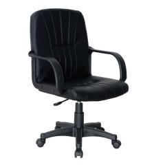 Fotelj art. H-550L **eko** usnje črno/HOWI