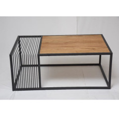 Coffee table KEVIN oak brown + black